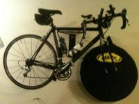 "This ""BBQ black"" Cannondale R1000 hs been completely"
