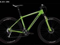 last years cannoldale Sl4 29er bright green large frame