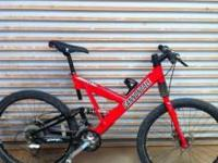 I'm selling a Cannondale Super V 900. The frame size is
