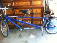 I have a cannondale Los dos tandem for sale. Aluminum