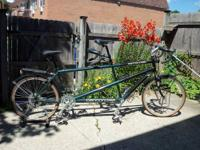 In great condition, this Cannondale tandem bike will