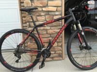2015 Cannondale Trail SL1 29er hardtail mountain bike,