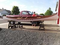 Cedar wood strip canoe,  Beautiful woodstrip