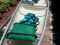 FOR SALE INDIAN RIVER CANOE, 18 FT,  WITH PADDLES,