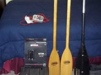 "Pair of 47"" Feather Brand Canoe Paddles with a new coat"