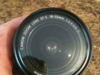 Canon 18-55mm no scratches. This lense is the kit lense