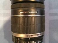 Canon 18x200 image stablized zoom lens,  this is the