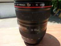I have a 2 year old Canon 24-105L lens for sale. Hood