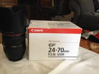 Mint condition 24-70 l lens version 1, includes