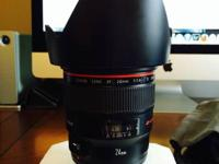 Canon 24mm f/1.4 L II USM Lens + BW filter USA $1670