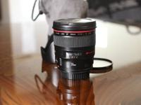 Canon 24mm f/1.4 L II in excellent condition. Lens has