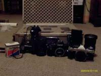I have a collection of 35 mm cameras. 1 canon AE-1 , 1