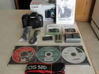 Like new Canon 50d body only, has shutter count of 304