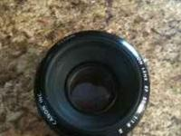 Canon 50mm no scratches. This lense is sharp and fast