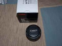 Canon 50mm, f1.4 EF Rarely used, with original box Very