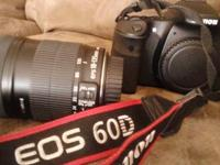 Canon 60D EOS DSLR cinema camera body with 15-200mm