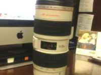 Selling my Canon 70-200 IS USM lens. Please text me if
