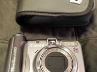 Canon point & shoot sized a720is 8mp digital camera for