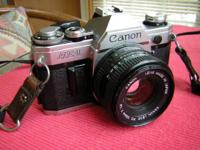 Canon AE-1 35mm SLR film camera in working condition No