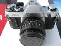 Camera and Canon 50mm f1.8 len are in exc. Has very