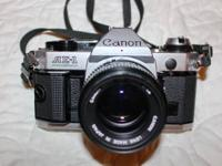 Canon AE-1 Program 35mm video camera body for sale.