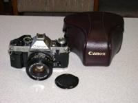 Canon AE-1 Program camera offered by original owner.
