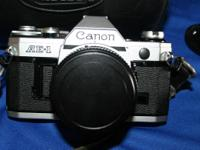 Well cared for Canon AE1 35mm SLR. Being provided with