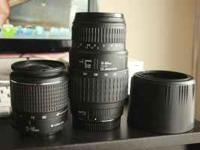 i have for sale a sigma 70-300mm macro and a canon