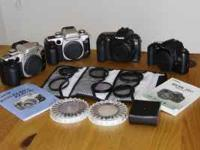 4 Canon cameras for sale. Canon EOS digital 20D, 2 Elan
