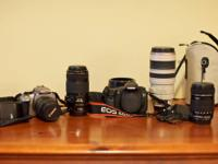 -Canon EOS Rebel XT w / EFS 18-55mm lens - $200.00.