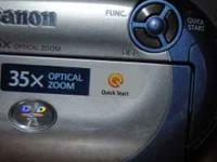 I have a Canon DC210 mini DVD camcorder with 35X zoom