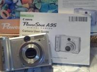 Canon Powershot A-95 Digital Camera, 5 MP, floating LED