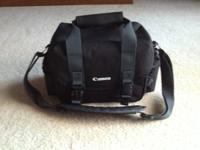 Like new and never used or carried Canon camera case.