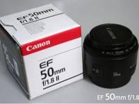 Canon EF 50mm f/1.8 II Lens This lens is only 1 month