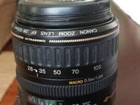 I am selling my Canon EF 28-105mm f3.5-4.5 USM lens for