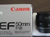 CANON EF 50MM F1.8 LENS MK I with METAL MOUNT & FOCUS