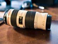 Selling a mint condition Canon EF 70-200mm IS USM F/4