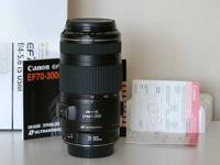 For sale: I have a mint condition Canon 70-300mm f/4