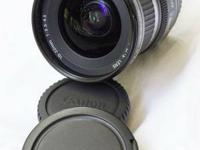 I am selling a made use of Canon 10-22 wide angle zoom.