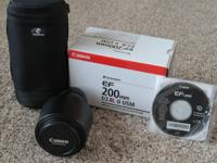 Canon EF200 f/2.8 lens $600.00 This is an excellent