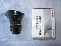 Canon EFS 10-22mm f3.5-4.5 wide-angle lens. Fits all