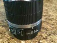 Canon 55-250 no scratches. This lense is great perfect