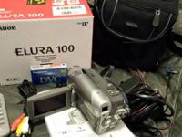 Canon Elura 100 camera, with 20x optical zoom and 800x