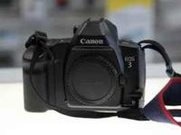 I have a Canon Eos 3 for sale, body with strap, cap and