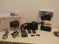 I'm selling my Canon EOS 40D Digital SLR video camera