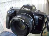 I have for sale a Canon EOS 650 with 50mm lens, a Canon
