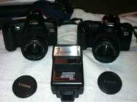 I have 2 canon 35mm FILM cameras: EOS REBEL G AND EOS