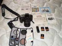 Lightly Used Canon Rebel Elan Camera, With all Books