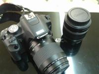 Canon EOS Rebel T1i, with 1 canon zoom lens ef 80-200mm