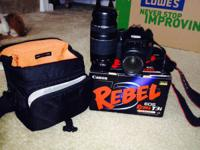Minimally used in great condition. Has added 75-300mm